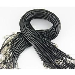 MyXL 2 MM sieraden sluiting karabijn Ketting Touw wax Lederen Koord zwarte ketting lanyard hanger cords 50 stks/partij Gratis