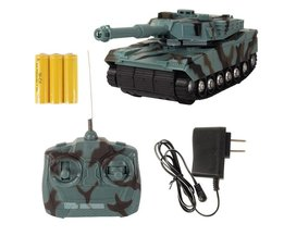 Abbyfrank RC Tank Battle Tank Model 1:22 360 Rotatie Muziek LED Radio Afstandsbediening Vechten Plastic Speelgoed Crawler Tractor