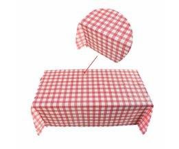Rode Plaid Wegwerp Plastic Tafel Covers Casual Outdoor Picknick Party Tafelkleden