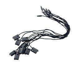 1000 stks/partij zwarte hang tag string in kleding hang tag strings snoer voor kledingstuk rijgen prijs hangtag of seal tag TA12855969