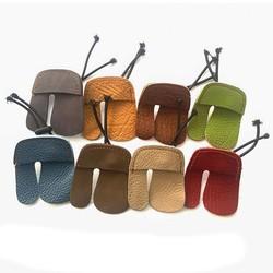 MyXL Willekeurige kleur Koe Lederen Boogschieten Vinger Guard Bescherming Pad Handschoen Tab Boog Schieten