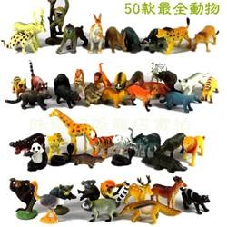 MyXL 50 stks Kleine Size Land Dieren Model Speelgoed Set Hoge Imitatie Land Creatures Vroege Onderwijs Speelgoed Kinderen