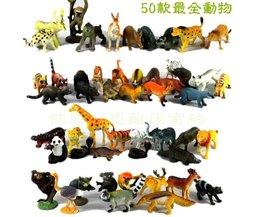 50 stks Kleine Size Land Dieren Model Speelgoed Set Hoge Imitatie Land Creatures Vroege Onderwijs Speelgoed Kinderen