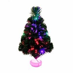MyXL 45 cm Glasvezel Kerstboom met LED Kleurrijke Licht Simulatie Boom Kerstversiering voor Thuis Natal Levert