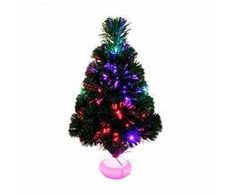 45 cm Glasvezel Kerstboom met LED Kleurrijke Licht Simulatie Boom Kerstversiering voor Thuis Natal Levert