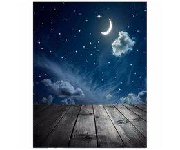 90 cm x 150 cm Fotografie Achtergrond Moon Star Baby Thema Fotostudio Achtergrond Rekwisieten