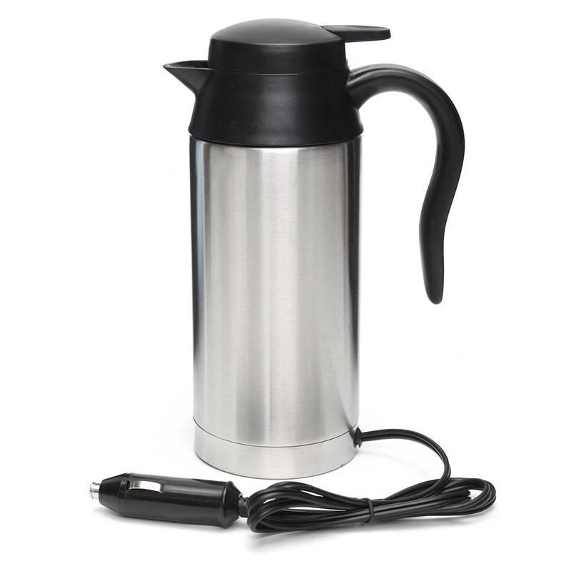 Wonderbaar 12 V Waterkoker 750 ml Rvs In-Auto Reis Koffie thee Verwarmde Mok BH-32