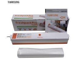 Huishoudelijke Voedsel Vacuumsealer Verpakkingsmachine Automatische Elektrische Film Voedsel Sealer Vacuümverpakker Inclusief 15 Stks Tassen <br />  TUANSING
