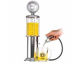 Mini Bier Dispenser Machine Drinkgerei Dubbele Pistool Pomp met Transparante Laag Ontwerp Tankstation Bar voor Drinken Wijn <br />  CABINA HOME