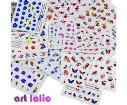 50 Vellen Gemengde Ontwerpen Water Transfer Nail Art Sticker WaterDecals DIY Decoratie Voor Beauty Nail Gereedschap Willekeurige Patronen <br />  Art lalic