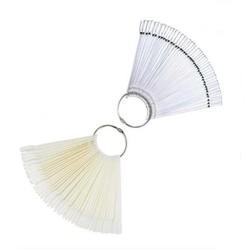 MyXL BlinkingNails Acryl Natuurlijke waaiervormige Nagels Display 50 stks Valse Nagellak Kleurenkaart Nep Volledige Nail Art Tips voor Koop <br />  MyXL