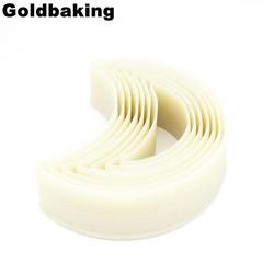 MyXL 7 Stuks Maan Vormige Cookie Schimmel Set Nylon Biscuit Cutter Set <br />  Goldbaking