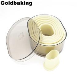 MyXL Oval Nylon Cookie Mould Cookie Cutter Set 7 Stuks <br />  Goldbaking