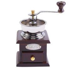Vintage Handkoffiemolen Met Keramische Beweging Retro Houten Koffie Molen Voor Woondecoratie Koffie Grinding Tool <br />  TOPINCN