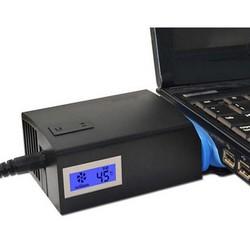 MyXL Universele Notebook Laptop Cooler USB Ventilator Koeling Luchtkoeler Speed Verstelbare met LCD Temperatuur Draagbare Laptop Cooling Pad <br />  S SKYEE