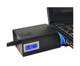 Universele Notebook Laptop Cooler USB Ventilator Koeling Luchtkoeler Speed Verstelbare met LCD Temperatuur Draagbare Laptop Cooling Pad <br />  S SKYEE