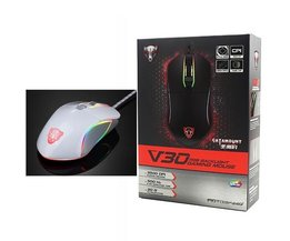 V30 RGB Programmering 3500 DPI Gaming Gamer Mouse USB Computer Wried Optische Muizen Backlit Ademhaling LED voor PC Game <br />  Motospeed