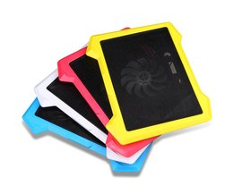 2 USB Laptop Cooling Pad Notebook Stand past 9-17 inch PC Laptop koeler 12 14 15 17 inch 1 Grote fans Cooler stilte LED <br />  MyXL