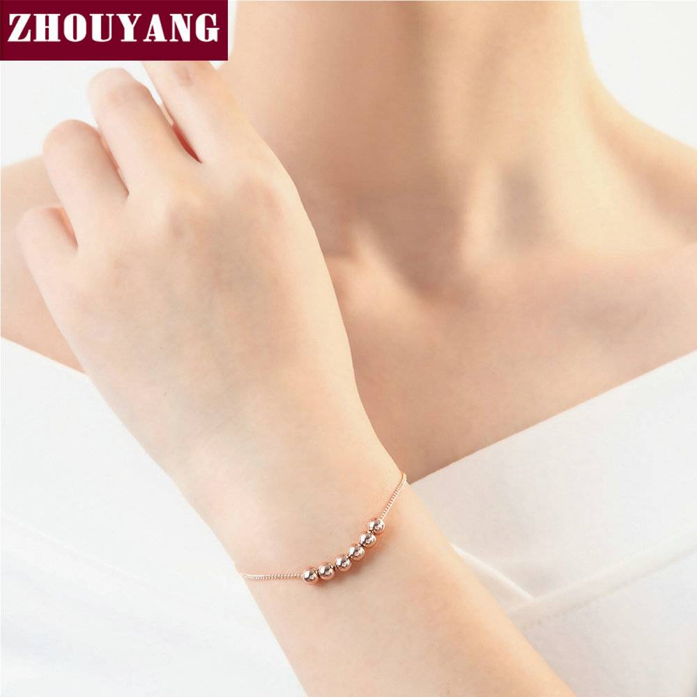 String Samen De Geluk Rose Goud Kleur Link Chain Bedelarmband Sieraden Top Kwaliteit Groothandel ZYH