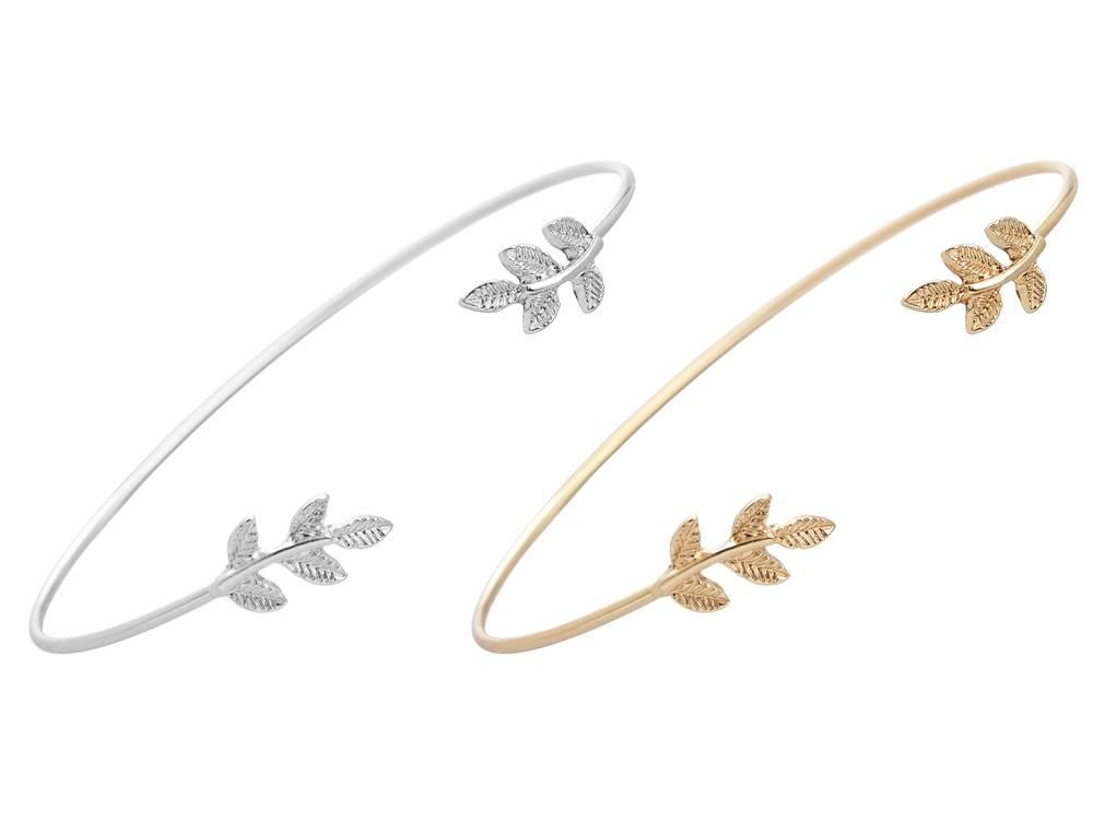 Mode Blad Armbanden Armbanden voor Vrouwen Eenvoudige Leaf Open Manchet Bangle Liefde Armband Liefde