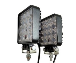 2 stks 48 W 4.2 inch LED Flood Rijden Lamp voor Auto Truck Trailer SUV Off Road Boot 12 V 24 V 4WD <br />  Bright guider