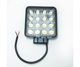 4.2 Inch 48 W High-Power Vierkante LED Verlichting 12 V-24 V Spot/Flood Voor 4x4 Offroad ATV Trekker Motorfiets Rijden Mistlampen <br />  DayWalker
