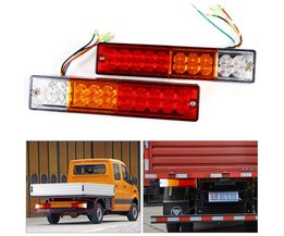 2 stks Trailer verlichting LED Stop Achterlichten Brake Reverse Light Turn Indiactor led 12 V/24 V ATV Truck led Trailer achterlichten Lamp <br />  VGEBY
