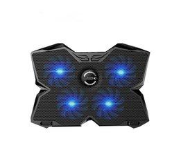 "CoolCold Ice Magic 2 Koeler met 4 Stilte Fans LED USB 2.0 Laptop Cooling Pad 12 ""13"" 14 ""15"" 17 ""Laptop Houder <br />  COOLCOLD"