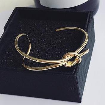Eenvoudige HandgemaakteMode Open Armband Verstelbare Trendy Sieraden Goud-kleur Manchet Armbanden &