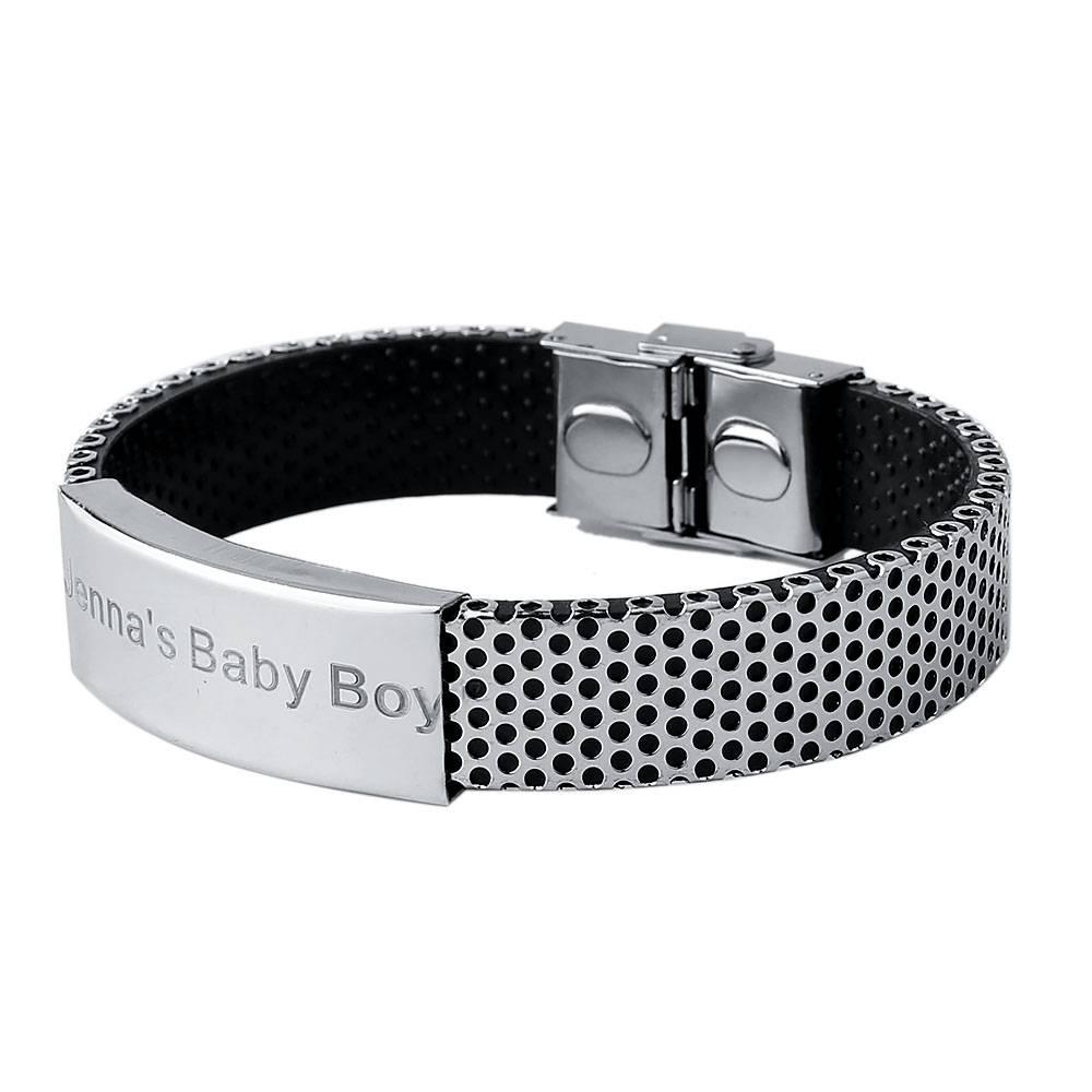 Aziz bekkaoui man sieraden id armbanden voor mannen gepersonaliseerde naam bangle rvs armbanden cust
