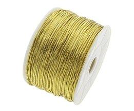 100 Meter/stuk 1.5mm goud en zilver Nylon Koord Draad Koord Plastic String Strap DIY Touw Bead Ketting Shamballa Armband Maken <br />  YYW