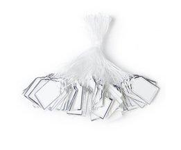 500 Stks Rechthoekige Label Tie String Sieraden Display Merchandise Craft Prijzen Label Tie String Prijskaartjes <br />  Phenovo