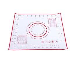 Non Stick Siliconen Bakken Mat Deeg Kneden Mat Bakken Rollende gebak Mat Bakvormen Liners Pads Koken Gereedschap 26X29 cm <br />  TOPINCN