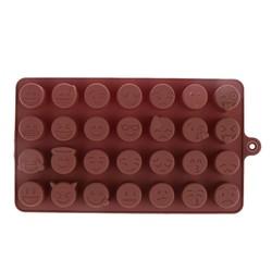 MyXL 28-even DIY Emoji Cake Chocolade Cookies Ijsblokje Zeep Silicone Mold Lade Bakvorm Persoonlijkheid Uitdrukking Ice mold <br />  VKTECH