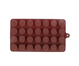 28-even DIY Emoji Cake Chocolade Cookies Ijsblokje Zeep Silicone Mold Lade Bakvorm Persoonlijkheid Uitdrukking Ice mold <br />  VKTECH