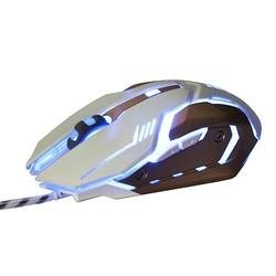 MyXL Stille 150G Zware Bedrade Muis Gaming 3200 DPI 6 Knop 140 cm Bedrade Ademen LED Optische Muizen voor Desktop Laptop Video Game <br />  SOVAWIN