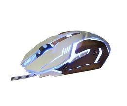 Stille 150G Zware Bedrade Muis Gaming 3200 DPI 6 Knop 140 cm Bedrade Ademen LED Optische Muizen voor Desktop Laptop Video Game <br />  SOVAWIN