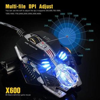 Gaming Muis Mechanische Muis 8 Button Wired Game Muis Gamer A5050 Chip Macro 'S Programmering Optische Computer Muis voor Laptop PC <br />  S SKYEE