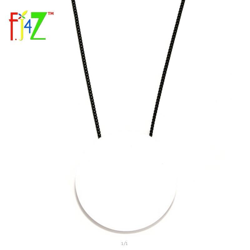 F. J4ZDesigner Ketting Mode Trendy Grote Zwart Wit Acryl Cirkel Lange Valse Kraag Hanger Kettingen v