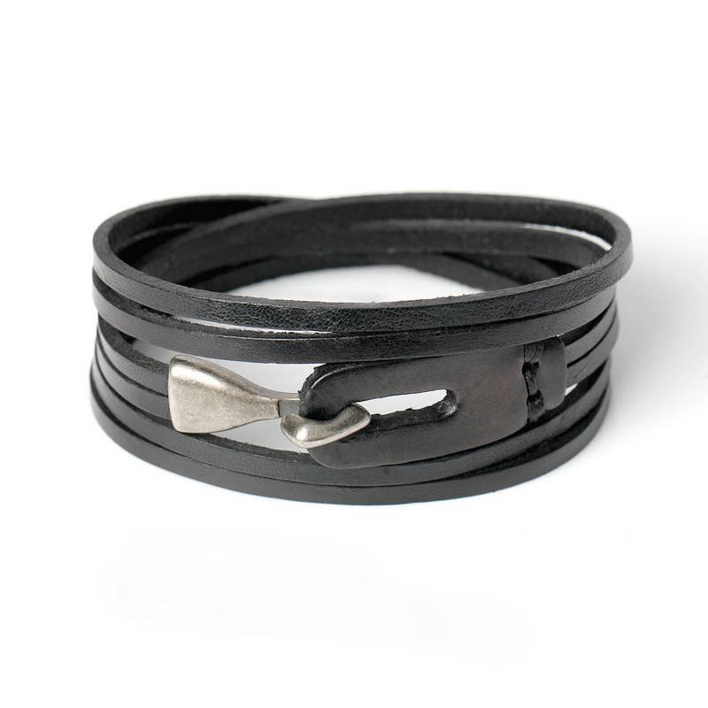 Mode Lederen Haak Armbanden Voor Mannen Vrouwen Populaire Knight Moed Bandage Charm Anker Armbanden