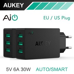MyXL 5 V/6A Universal Travel Charger USB Adapter EU US Plug muur Mobiele Telefoon Smart Charger voor Samsung Galaxy s8 iPhone Charger <br />  AUKEY