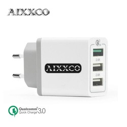 MyXL 3 USB Charger Quick Lading 3.0 30 W Snelle Mobiele Telefoon Oplader (Quick Charge 2.0 Compatibel) 5 V 2.4A voor Samsung Huawei LG <br />  AIXXCO