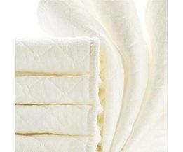 10 stks Baby herbruikbare luiers Bamboe Eco Katoen luiers nappy baby producten kinderen care inserts 3 Lagen maat: 32*12/46*17 cm <br />  MyXL