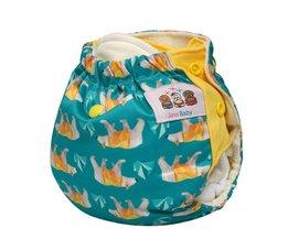 Hey Ijsbeer Pasgeboren Doek Luier-One Size AIO Bamboe Zorg voor Babies <br />  JinoBaby