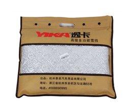 Yi ka draagbare autoruit zonnescherm auto sneeuw covers voor suv/gewone uv aluminium plus katoen voorruit sneeuw geblokkeerd <br />  YI KA