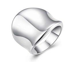 fijne mode jewellrryverzilverd ringen Duim Plaat ring mannen vrouwen Sieraden mannelijke ring 925 sieraden