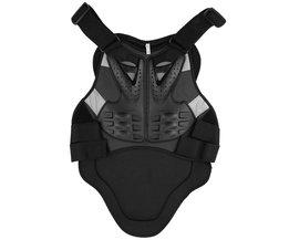PE shell Motocross Racing Armor Zwart Motorrijden Body Bescherming Jas Met Een Reflecterende Strip Motorfiets Armor