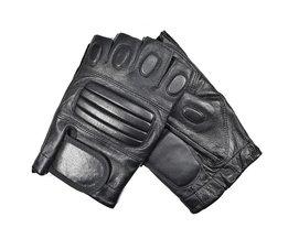 Kuyomens mannen vingerloze handschoenen pols half vinger handschoen unisex vingerloze wanten real lederen handschoen