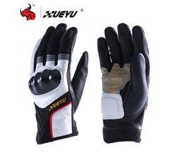 XUEYU Lederen Motorrijden Handschoenen Motorbike Motocross Racing Handschoenen Motocross Volledige Vinger Moto Luvas Da Motocicleta
