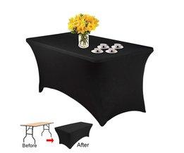 Rechthoekige Tafel Cover Spandex Stof Tafelkleed Stretch Bar Bistro voor bruiloft Decoraties